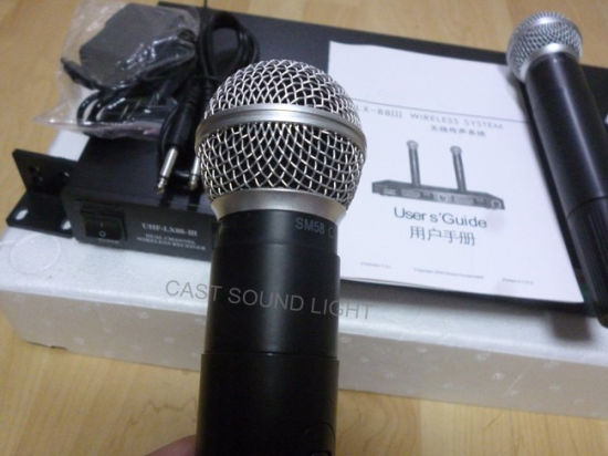 Lx88III UHF Handheld Wireless  Microphone  for  Karaoke pictures & photos