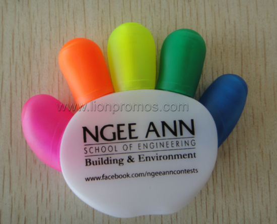 Hand Palm Shape 5c Custom Highlighter Pen pictures & photos