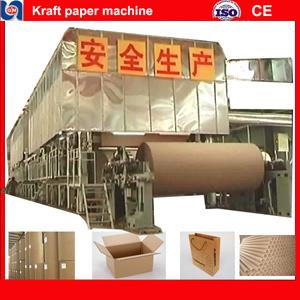 Complete Line of 30 Ton/Day Testliner, Fluting, Carton Paper Making  Machine, Raw Material: Waste Paper, Wheat Stalk, Reed, Rice Stalk, Cotton  Stalk,