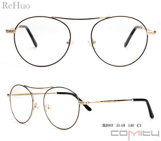 37a6500f5c9 China Classical High Quality Metal Optical Frames for Lady - China ...