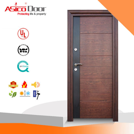 Solid Wood Fire Door with Bm Trada of 2.0 Hours pictures & photos