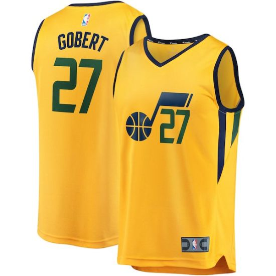 new arrival c1406 c1da6 Utah Jazz Fanatics Branded Gold Fast Break Custom Replica Basketball Jerseys