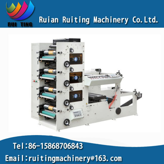 Rtry-480d Auto 4 Colors Flexo Paper Cup Printing Press Machine