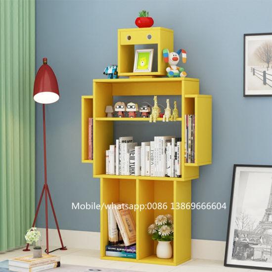 Hot Sale Children Creative Modern Robot Shaped Bookshelf For Kids Study Room
