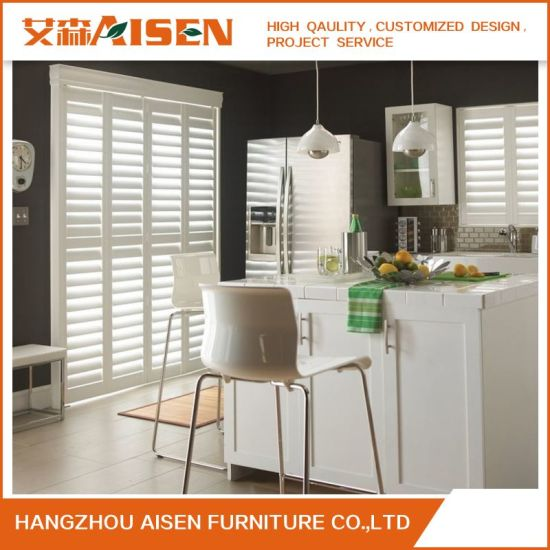 Modern White Security Wood Window Plantation Shutter From China pictures & photos