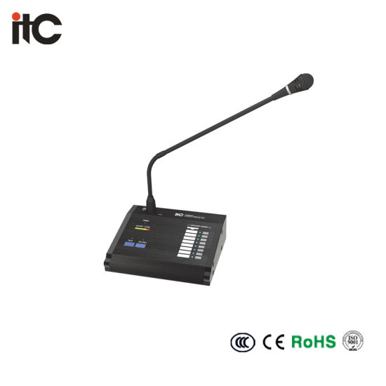Remote Paging Console Condenser Microphone with Extension Control Keypad
