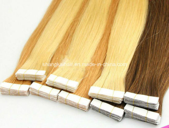 PU Tape Human Hair Extension Skin Weft