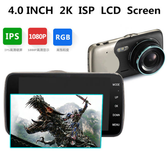 4.0′′ Car DVR Full HD 1080P Dual Lens with Rear View Camera Adas Camera Recorder pictures & photos