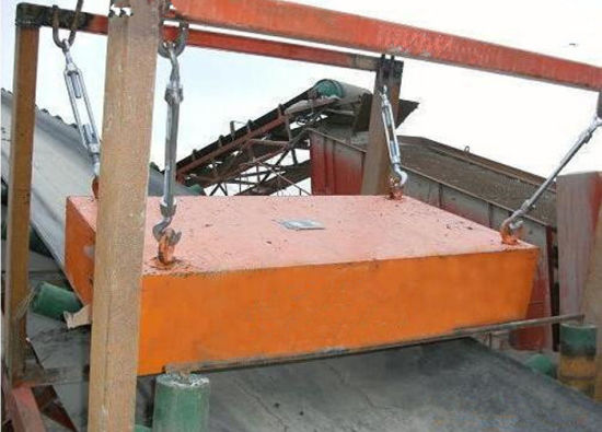 Rectangular Type Rcyb Dry High Intensity Suspended Permanent Magnet for Belt Conveyor