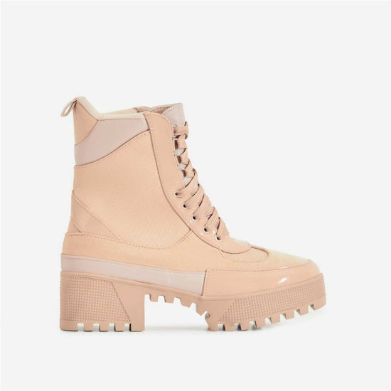 China Women Ankle Biker Boots Chunky