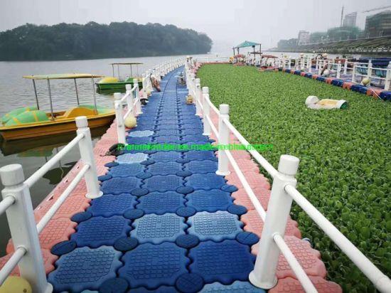 Modular Floating Pontoon Dock as Floating Bridge