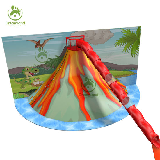 Volcano Grips Climbing, Amazing Dinosaur Theming Indoor Volcano Tube Slide for Sale pictures & photos