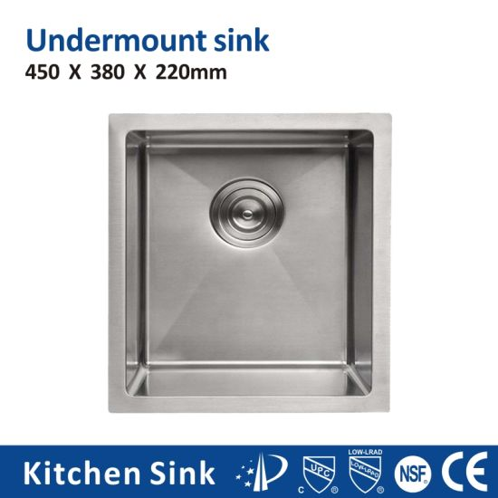 Us R15 2 3mm 16gauge Rectangular Dual Mount One Two Wash Basin Lavabo Sink for Building Project by Hand Nichel Kitchen Sink