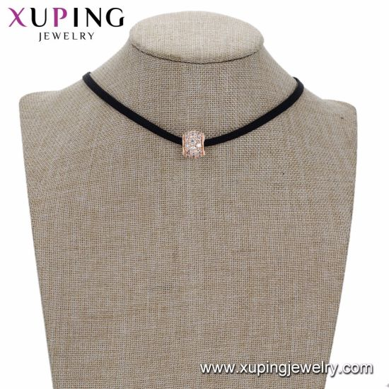 44264 Xuping Fashion Women Rose Gold Color Beads Necklace pictures & photos