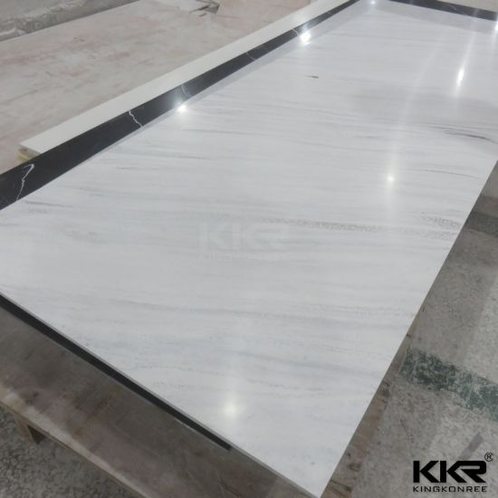 Hot Ing Marble Look 12mm Solid Surface Corian For Worktop 181116 Pictures Photos