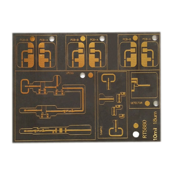Multilayer PCB Circuit Board Rogers Rt5880 PCB