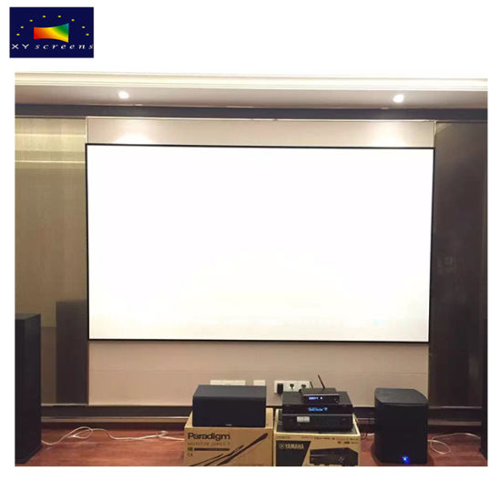 China 110 Inch Highest End Thin Bezel Fixed Frame Projection Screen ...