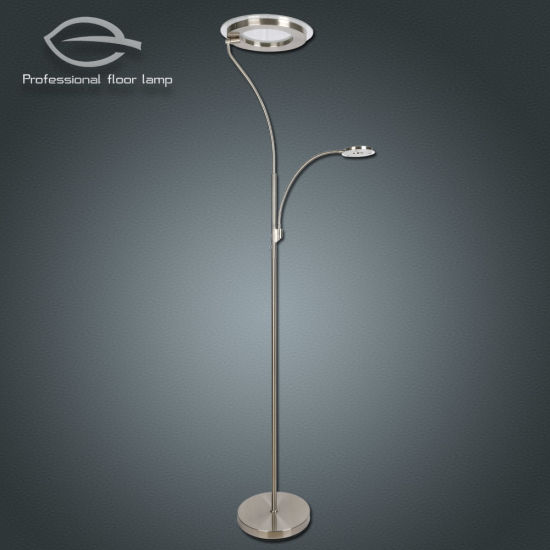 Led 30w 5w Two Light Source Floor Lamp With Push Dimmer