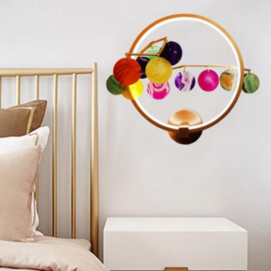 Modern Simple Aluminum Living Room Agate Wall Lamp