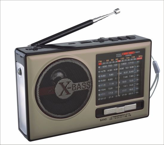 FM/Am/Sw1-7 9 Bands Portable Radio with USB/TF/Rechargeable/Bluetooth Speaker pictures & photos