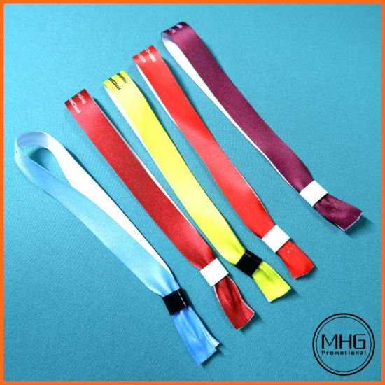 Fabric Polyester Ribbon Bespoke Event Use ID Wristband One off