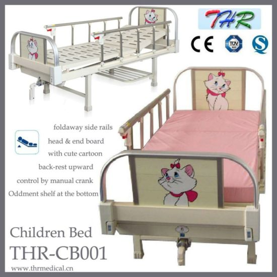 Hospital Pediatric One-Crank Children Bed (THR-CB001) pictures & photos