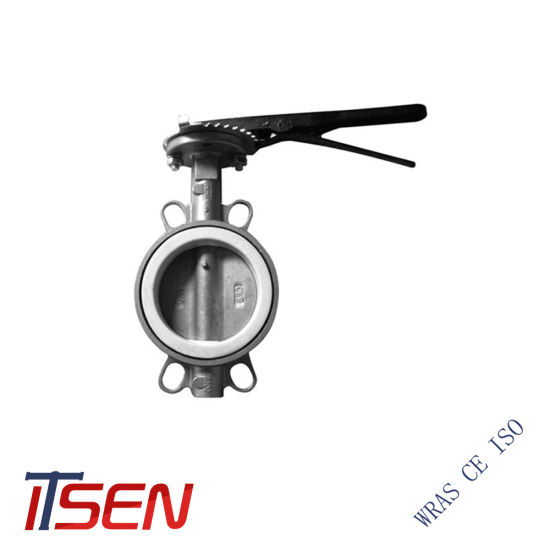 Stainless Steel CF8/CF8m Wafer Type Duplex Butterfly Valve for Pn10/Pn16 or 10K/16K or Class150/300/600 for Sanitaty/Oil/Gas/Water