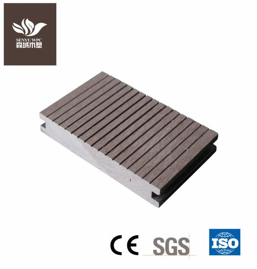 Wood Plastic Composite Dark Gary Solid Flooring