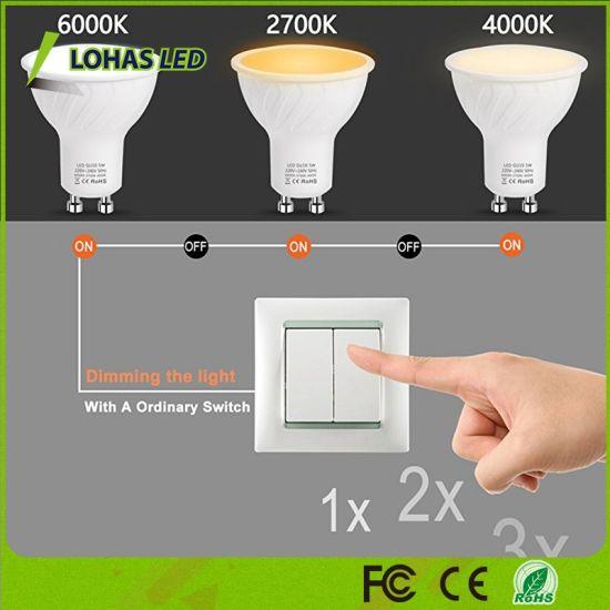 GU10 LED Light Bulbs 50 Watt Equivalent Colour Changing 6000K-2700K-4000K  LED Spotlights