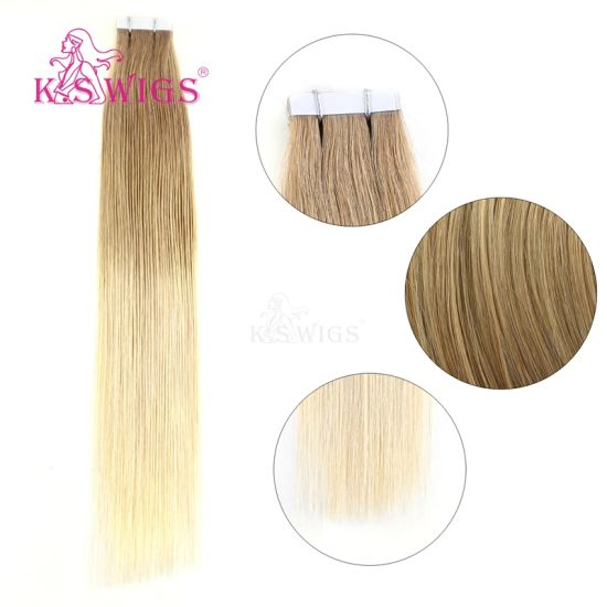 K. S Wigs Tape Hair Extension Virgin Human Hair Remy Hair pictures & photos