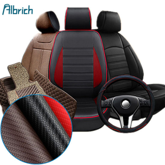 0.6mm Carbon Fiber PU Factory Direct Selling Automotive Door Panels Steering Wheel Straw Mat Woven Leather pictures & photos