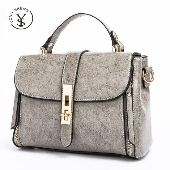 Trendy Colorful Shoulder Bag Leather Lady Handbag