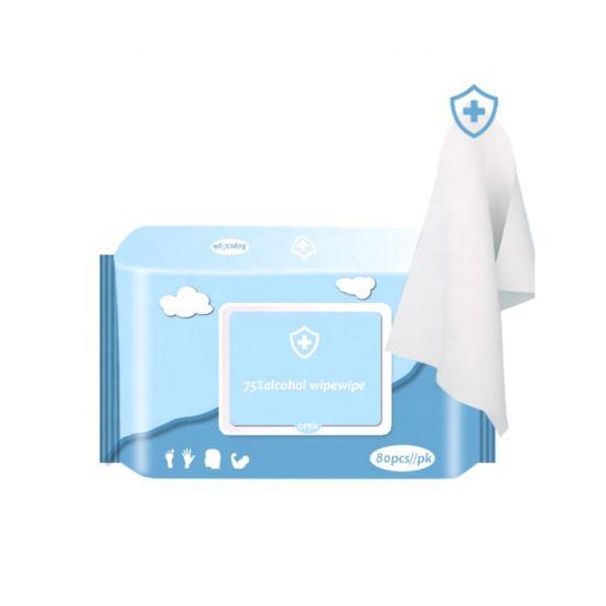 10PCS/Pk 60PCS/Pk 80PCS/Pk Sanitizer Wet Tissue Anti Bacterial Wet Wipe