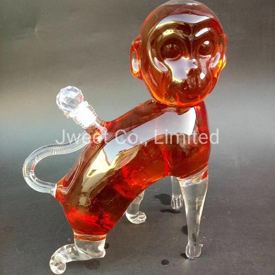 750ml OEM Monkey Aminal High Borosilicate Spirit Wine Glass Bottle