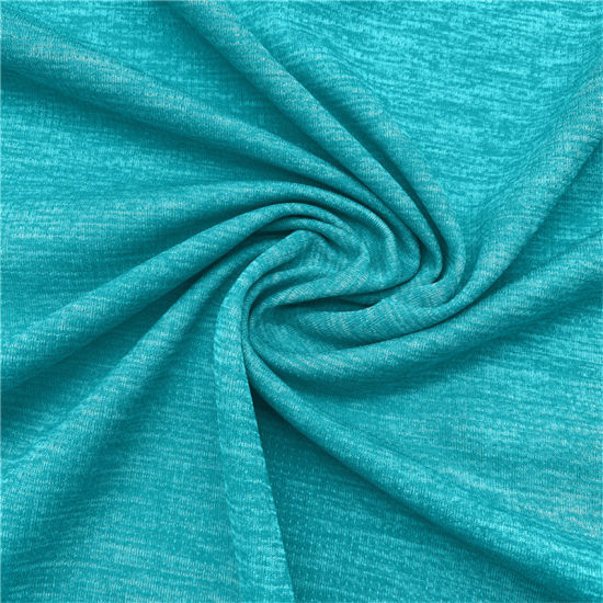 100% Polyester Blended Wicking Melange Interlock Fabric