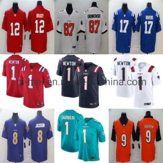 Patriots Cam Newton Brady Gronkowski Burrow Rivers Tagovailoa Football Jerseys
