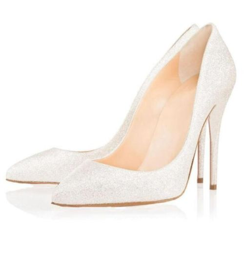 Nude Stiletto Heel Shoes Women Wedding Party Dress Shoes