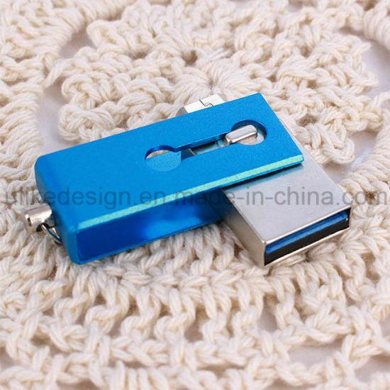 3.0 Metal Mini DIY OTG USB Flash Disk High Quanlity Classic Packing (3.0 OTG-104)