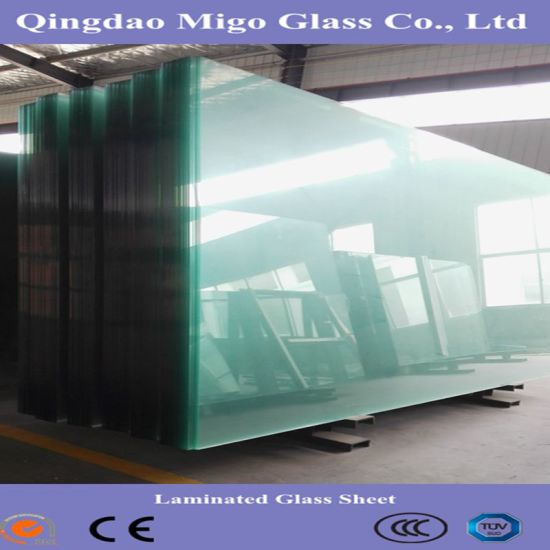 Big Size Clear Colored Laminated Sheet Glass Cut To