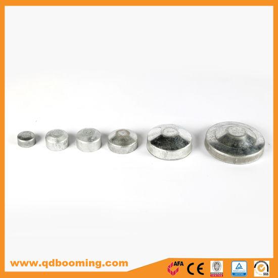 Powder Coated or Galvanized Round Pipe Cap