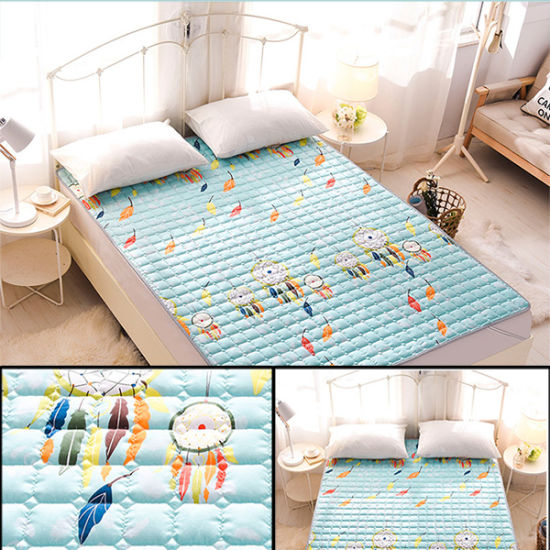 Printed Polyester Fabric Thick Mattress Protector