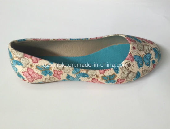 Nice Cloth Fabric of Flat Ballet Shoes for Girls