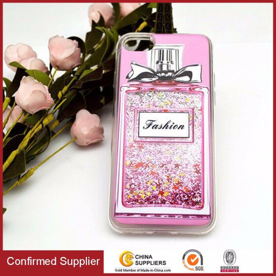 Free Sample Liquid Glitter Bling Perfume Mobile Phone Case for iPhone 6 / 7