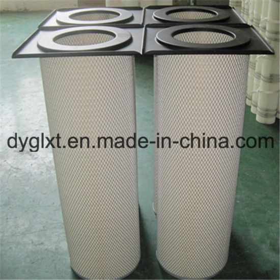 Square Lid Cylindrical Air Filter Cartridge for Dust Collector