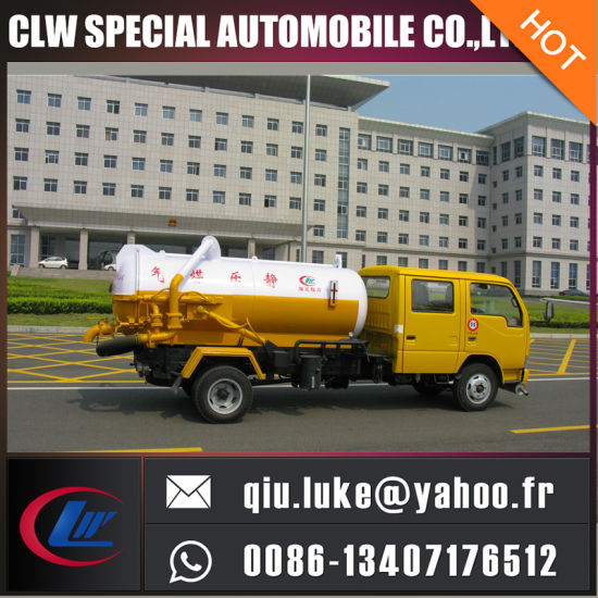 3m3 Dongfeng Xiaobawang 4*2 Vacuum Sewage Suction Truck pictures & photos