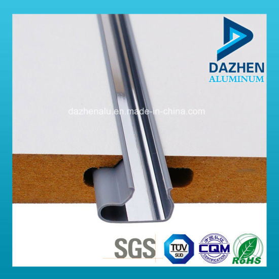 Manufacturer Aluminium Extrusion Profile for Insert in MDF Slatwall with Anodized pictures & photos