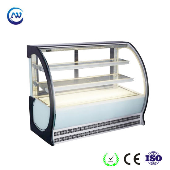 Commercial Supermarket Display Cake Refrigerator with Curved Glass (G760A-W)