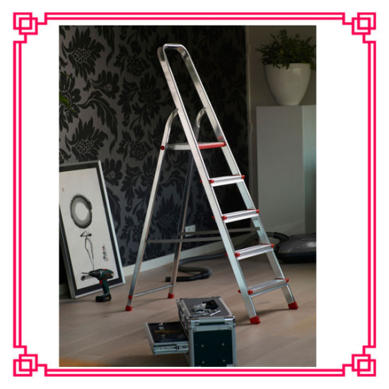 5 Steps Folding Ladder Chair Warehouse Aluminium Ladder pictures & photos