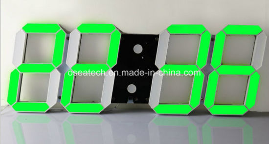 Custom Logo Electronic Digital Wall Clock pictures & photos