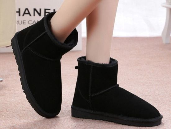 Stable Performance Double Face Baby Use Sheepskin Women Ladies Winter Snow Boots